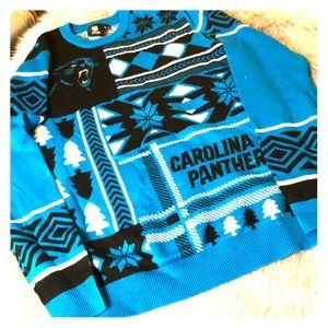 Carolina Panthers Ugly Sweater worm once